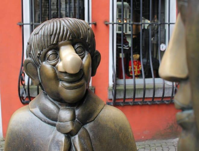 Tünnes und Schäl auf der Stadtführung Typisch Kölsch - Do lachte Dich kapott!