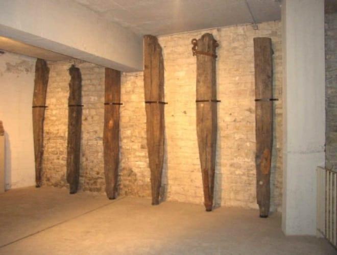 1700 Jahre alte Eichenpfähle