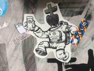 Planete Selfie Street Art in Köln