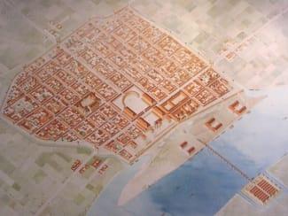 Alter Stadtplan des römischen Kölns