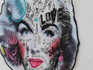 Besondere Kunstwerke von der Straße Marylin Monroe